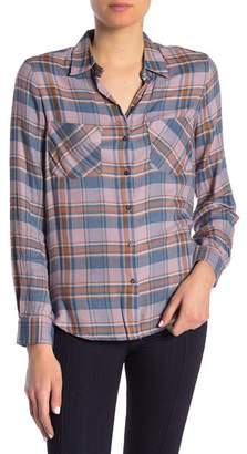 William Rast Aidan Plaid Button Front Shirt