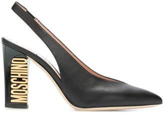 Moschino slingback logo sandals