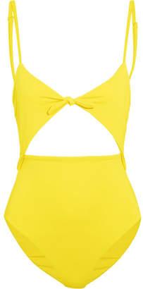 Mara Hoffman Cutout Swimsuit - Yellow