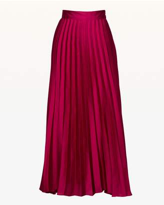 Juicy Couture Pleated Silk Midi Skirt