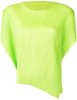 Pleats Please Issey Miyake asymmetric plissé T-shirt