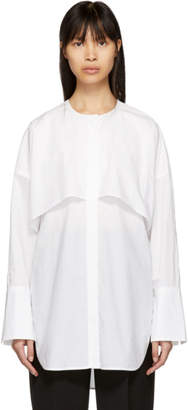 Enfold (エンフォルド) - Enfold ホワイト カラーレス シャツ