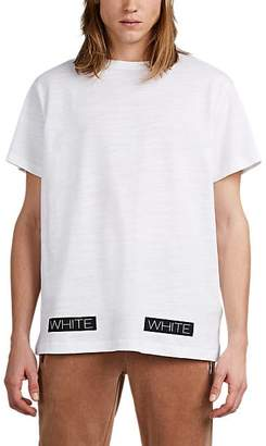 Off-White OFF - WHITE C/O VIRGIL ABLOH MEN'S LOGO-BOX FINE-GAUGE SLUB COTTON T-SHIRT - WHITE SIZE L