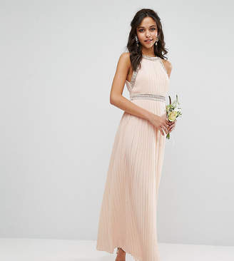TFNC WEDDING Embellished Neck Maxi Dress