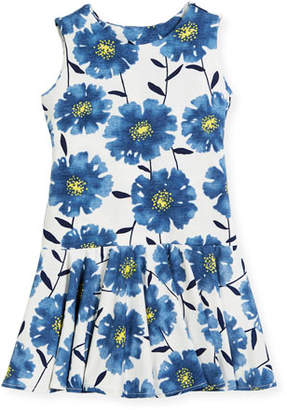 Helena Knit Daisies Drop-Waist Dress, Size 4-6
