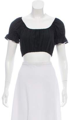 Reformation Scoop Neck Cropped Top