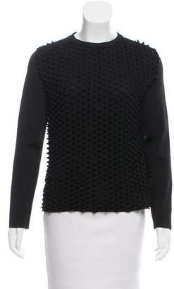 Paco Rabanne Texture-Accented Crew Neck Sweater