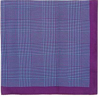 Barneys New York Men's Prince Of Wales Checked Silk Pocket Square