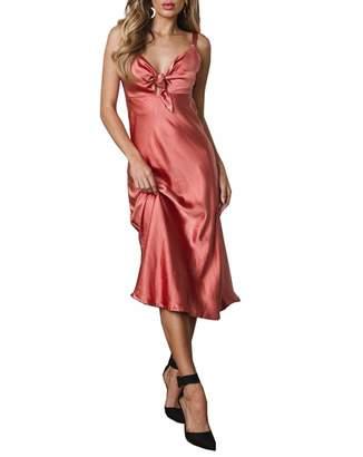 21f52ab4ed49 air-SMART Women's Sexy Satin Nightgown Full Length Slip Lingerie Chemise  Robes ...