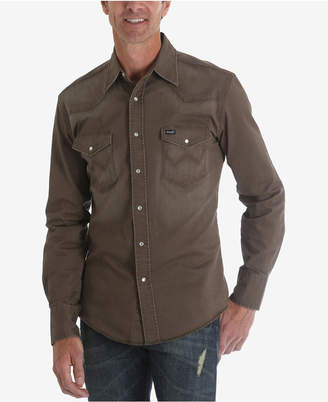 Wrangler Men's Authentic Western Long Sleeve Twill Shirt
