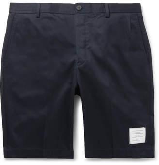 Thom Browne Slim-fit Cotton-twill Shorts - Navy