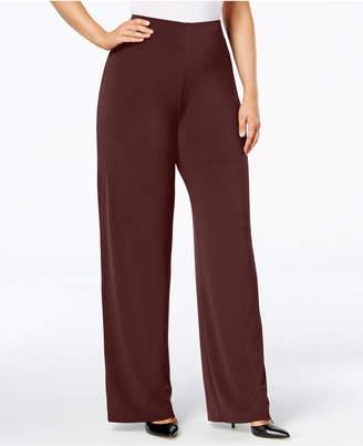 Alfani Plus & Petite Plus Size Wide-Leg Soft Pants, Created for Macy's