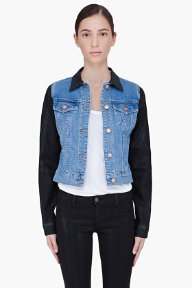 J Brand Coated Denim Bowie Jacket
