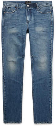 RtA Skinny-Fit Distressed Denim Jeans - Mid denim