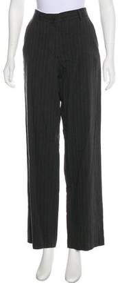 Dries Van Noten Mid-Rise Linen-Blend Pants
