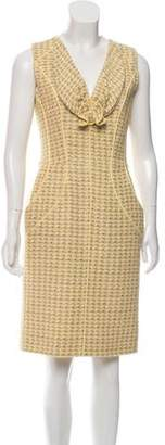Oscar de la Renta Sleeveless Tweed Dress