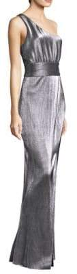 LIKELY Chandler One-Shoulder Metallic Gown
