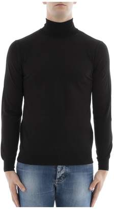 Paolo Pecora Black Wool Turtleneck