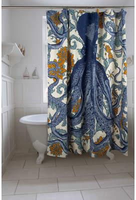 Thomas Paul Vineyard Octopus Shower Curtain