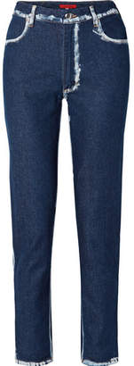 Eckhaus Latta El Two-tone High-rise Straight-leg Jeans - Dark denim