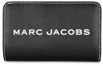 Marc Jacobs Tag Black Logo Leather Wallet