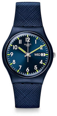 Swatch Analog Silicone Watch