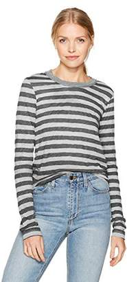 Stateside Women's Painterly Charcoal Stripe L/s Top