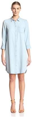 James & Erin Women's Button Front Dress
