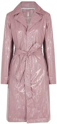 Rains Dusky Pink Holographic Raincoat