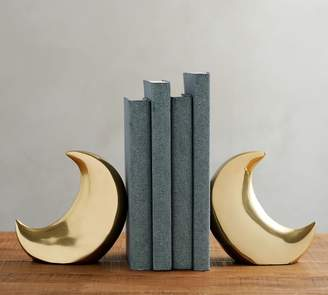 Pottery Barn The Emily & Meritt Brass Moon Bookends, Set of 2
