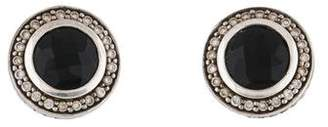 David Yurman Onyx & Diamond Stud Earrings