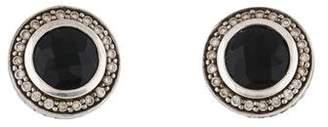 David Yurman Onyx & Diamond Stud Earrings
