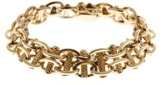 14K Rose Gold Oval Link Bracelet