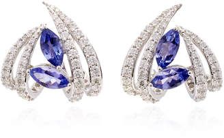 Hueb Exclusive 18K White Gold Tanzanite And Diamond Earrings