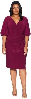 Lauren Ralph Lauren Plus Size Mildia Elbow Sleeve Day Dress Women's Dress