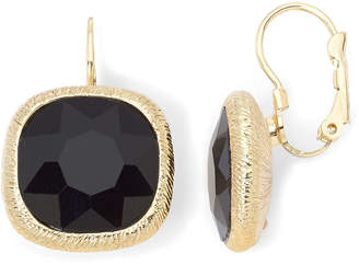 JCPenney MONET JEWELRY Monet Jet Black Drop Earrings