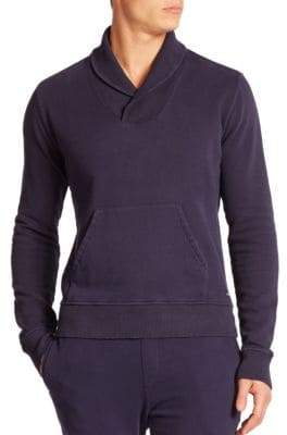 Wahts Cotton& Cashmere Shawl-Collar Sweater