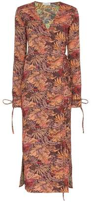 ATTICO jacquard maxi robe dress