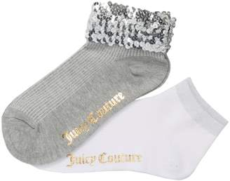 Juicy Couture Sequin Welt Rib Anklet Set