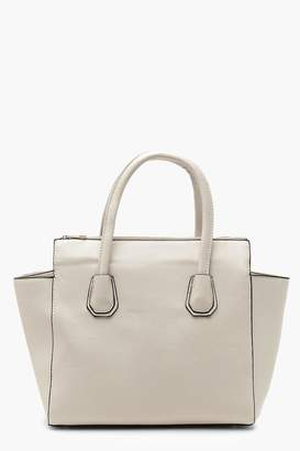 Boohoo Structured Tote With Cross Body Strap