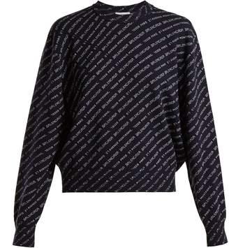 Balenciaga Crew-neck wool-blend sweater
