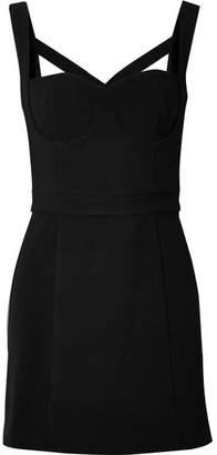 Rebecca Vallance Sabado Paneled Crepe Mini Dress - Black