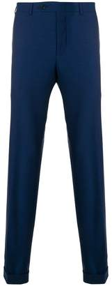 Canali roll-up hem trousers