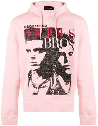 DSQUARED2 Vicious Bros print hoodie