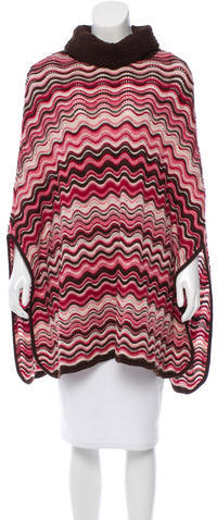 Missoni Missoni Knit Turtleneck Poncho