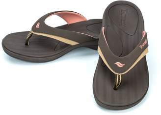 Powerstep Women's Fusion Flip-Flop Sandals – Orthotic Sandal with Built-in Arch Support for Plantar Fasciitis and Flat Feet