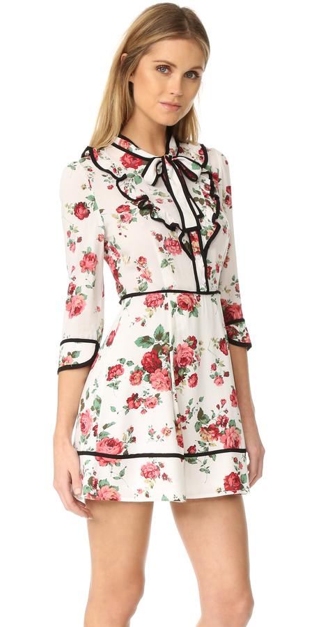 re:named Floral Neck Tie Dress 4