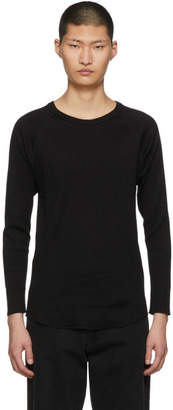 Black Rib Stitch Sweater