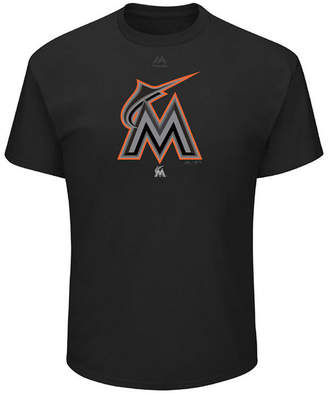 Majestic Men's Miami Marlins Pitch Black Focus T-Shirt