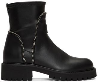 Giuseppe Zanotti Black Zip Ankle Boots